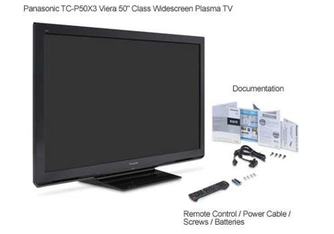 Panasonic Tc-p50x3 Viera 50 Class Widescreen Plasma Tv