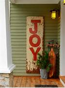 Learn How To Make A Hand Painted Vintage Sign How Tos DIY Front Porch Christmas Decorating Ideas And A Speed Cleaning Checklist 18 Easy Decorating Ideas For Fall Jenna Burger Christmas Cards Holidays Christmas Ideas Christmas Holiday Ideas