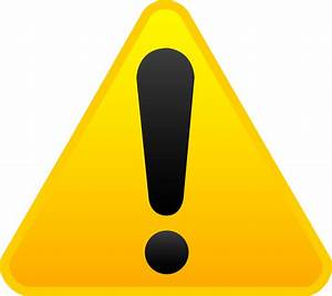 Yellow Exclamation Alert Symbol - Free Clip Art