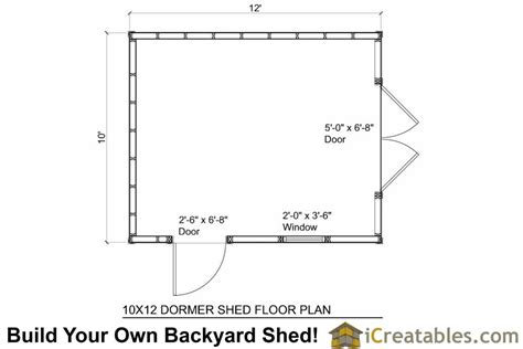 Shed Floor Plans by 10x12 Shed Plans With Dormer Icreatables
