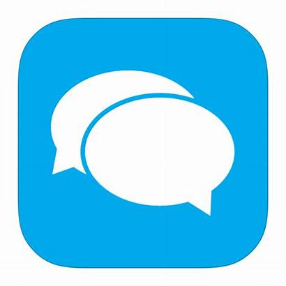 Icon Messaging Apps Messenger Transparent Chat Metroui