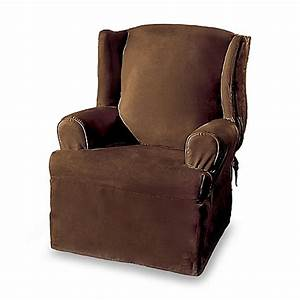 sure fitr soft suede wing chair cover bed bath beyond With sure fit furniture covers bed bath and beyond
