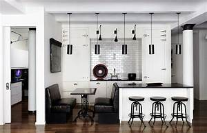 black and white kitchens ideas photos inspirations With what kind of paint to use on kitchen cabinets for black and purple wall art