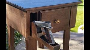 Gun Concealment Furniture: End Table with Hidden Gun and