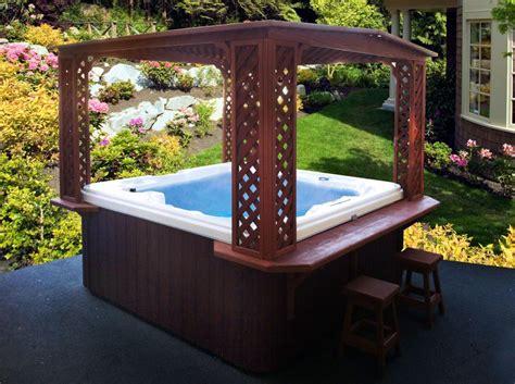 Outdoor Hot Tub Rooms  Backyard Design Ideas