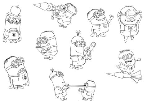 Minion Coloring Pages To Print Halloween Grig3org