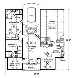 one story open floor house plans crandall cliff one story home plan 013d 0130 house plans and more