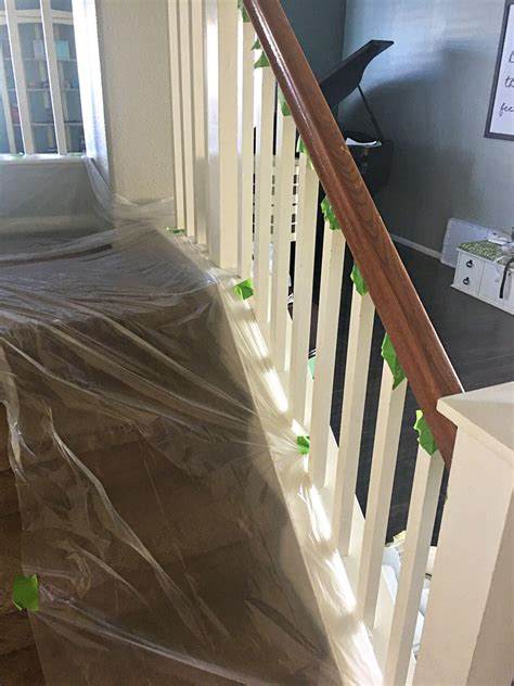 banister railings how to paint your stair railing and banister black