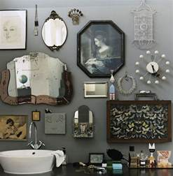 bathroom accessories decorating ideas retro bathroom idea with grey wall paint plus completed with unique wall ornament accessories of