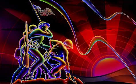 Heroes Of The Animated Wallpaper - neon colors wallpaper 316535