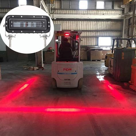 xrll red zone safe speed forklift led side light  striped