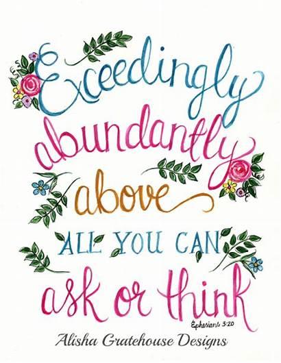 Ephesians Bible Watercolor Spring Scripture Abundantly Abundance
