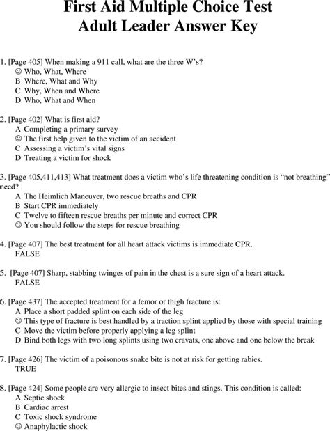 First aid multiple choice questions and answers pdf
