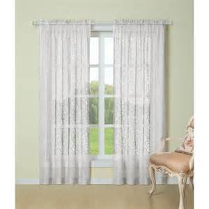 laura ashley beatrice lace sheer curtain panel pair