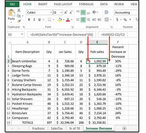 Sales Tax Formula Excel Excel Percentage Formulas Percentage Of Total Percent
