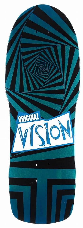 Vision Skateboard Teal Dark Concave Deck Modern