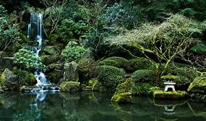 Pond nature rocks Portland Oregon Portland Japanese Garden ...