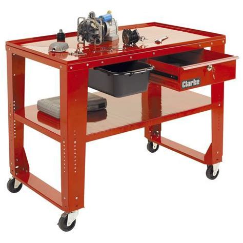 workbench engine repair table mobile adjustable height ebay