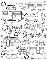 Coloring Camper Retro Printables Campers Camping Printable Merryabouttown Trailers Travel Colouring Enjoy Pdf Motorhome Sheets Merry Town Popular Plus Three sketch template
