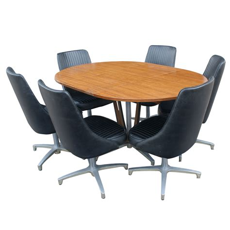 Chromcraft Furniture Dining Sets by Vintage Chromcraft Dining Extension Table 6 Chairs Ebay