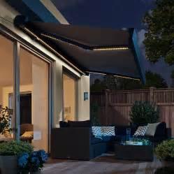sunfun led vollkassettenmarkise grau breite 5 m With markise balkon mit esprit tapeten