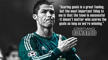 Ronaldo Quotes Cristiano Teamwork Cr7 Soccer Famous