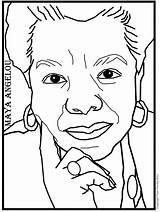 Angelou Coloring Maya Pages Printable Woman Phenomenal Print Info Getdrawings Poet sketch template