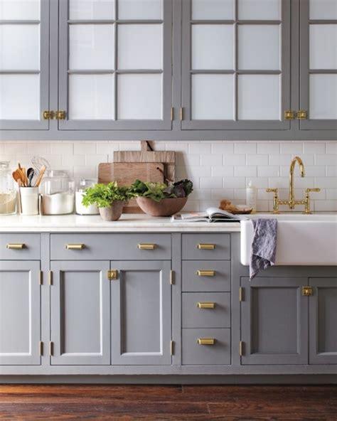 Antique White Stain Kitchen Cabinets by Big Comeback Brass Kitchen Hardware Centsational