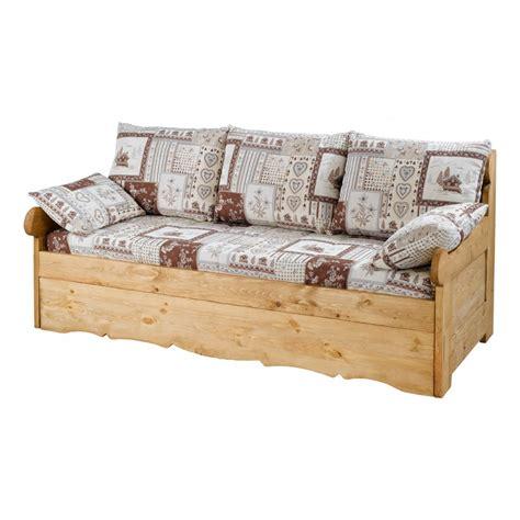 canapé en bois massif canape rustique
