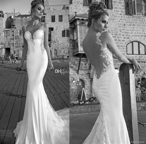 backless wedding dress lace 2015 arrival galia lahav sheer backless wedding