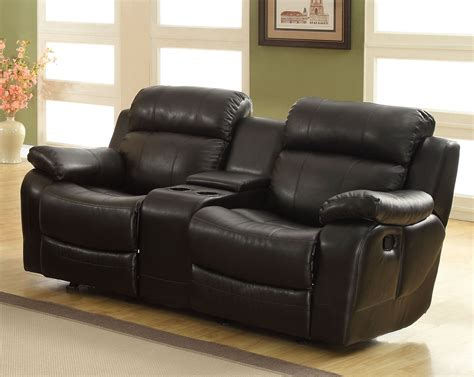 Furniture Loveseat Recliners by Homelegance Marille Seat Glider Recliner With Center