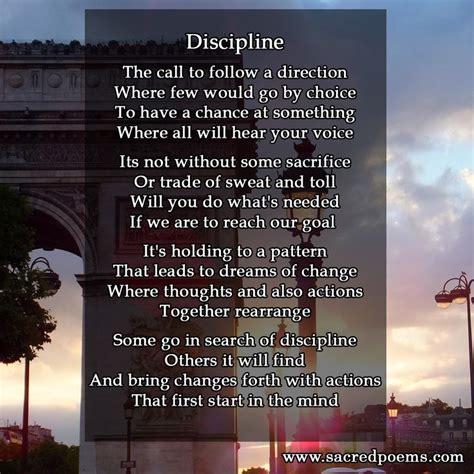 inspirational poem  discipline inspirational poems