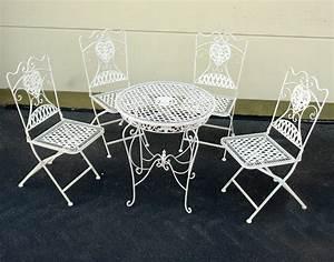 Balkon Tisch Stühle : eisen m bel sitzgruppe tisch 4 x st hle garten garnitur antik weiss balkon set ebay ~ Sanjose-hotels-ca.com Haus und Dekorationen