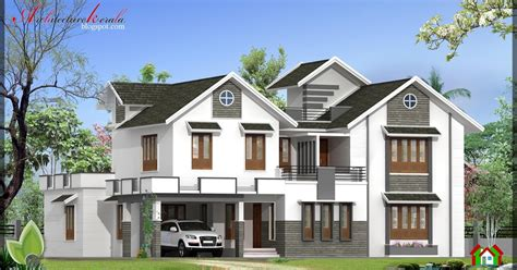 sq ft house elevation architecture kerala