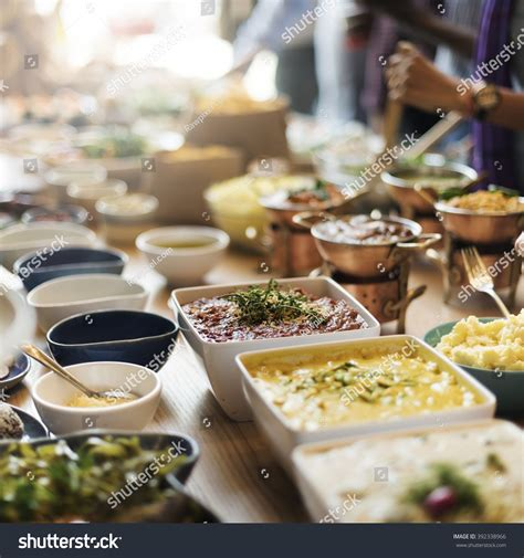 Buffet Brunch Food Eating Festive Cafe 392338966