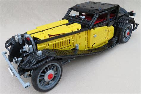 bugatti type  als lego technic modell gelber flitzer