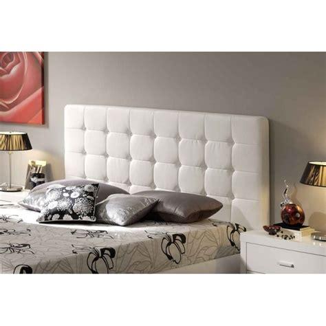 canapé blanc simili cuir pas cher tête de lit capitonnée 140