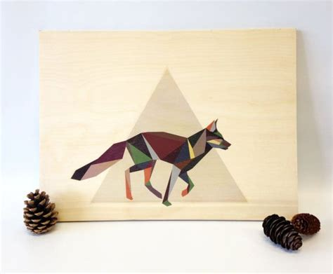 geometrique woodland executant fox graphique print part