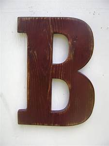 shabby chic wooden letter b distressed milk by unclejohnscabin With wooden letter b