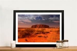 Uluru Australian Landscape Picture Framed Wall Art Print