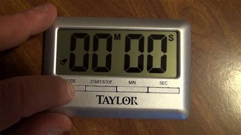 product review taylor kitchen timer  alarm clock youtube