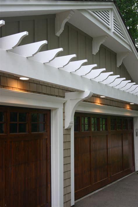 garage pergola doors eyebrow above door trellis arbor trim wood pretty overhead living plans designs dark homes carriage lighting lights