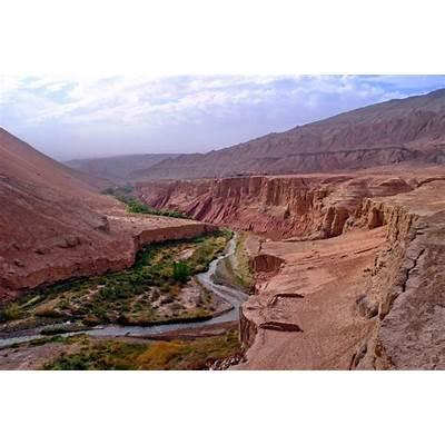 China - Turpan Tuyugou Canyon Desert Green 2Flickr