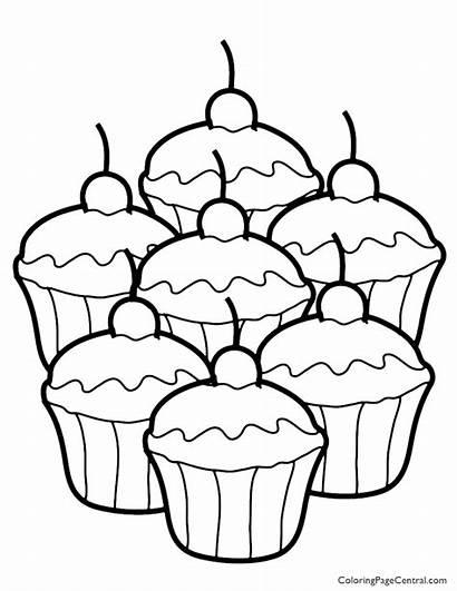 Cupcake Coloring