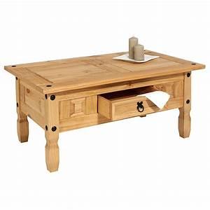 Table Basse Pin : table basse en pin salsa style mexicain 1 tiroir mobil meubles ~ Teatrodelosmanantiales.com Idées de Décoration