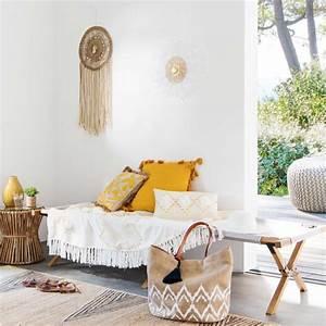 Canapé En Bambou : bout de canap en bambou et plateau en verre jubba maisons du monde ~ Melissatoandfro.com Idées de Décoration