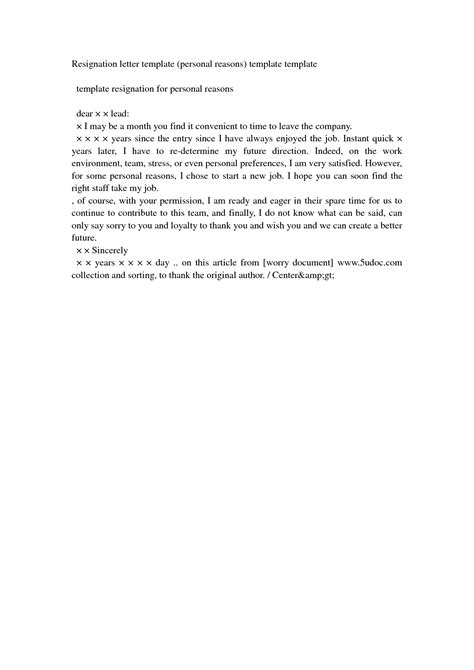Resign Letter For PersonalWriting A Letter Of Resignation