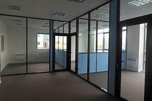 Les cloisons de bureau vitrees toute hauteur espace for Amenagement chambre ado avec fenetre avec store venitien integre prix