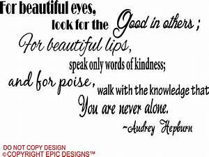 Audrey Hepburn For Beautiful Quotes. QuotesGram