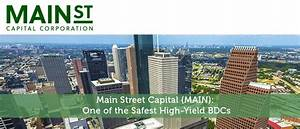 Main Street Capital (MAIN): One of the Safest High-Yield ...